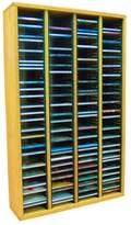 CD Racks Cdracks Media Furniture Solid Oak Tower for CD Capacity 240 CD's Honey Finish 409-3 (Individual Locking Slots)