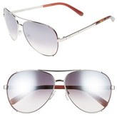 Bobbi Brown 'The Truman' 60mm Aviator Sunglasses