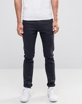 Weekday Friday Skinny Jeans Blue Black Monochrome
