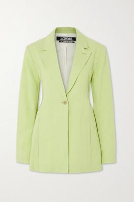 Jacquemus Tablier Hemp-blend Blazer - Light green