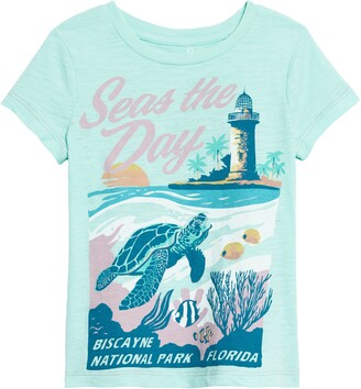Peek Aren't You Curious Seas the Day Graphic Tee
