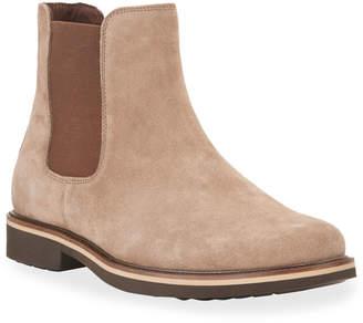 Donald J Pliner Men's Gored Nubuck Chelsea Boots