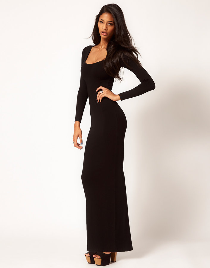 Asos Maxi Dress with Long Sleeves