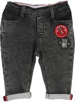 Little Marc Jacobs Patch Elasticated Waist Denim Aspect Fleece Trousers