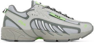 MSGM Grey Fila Edition Low-Top Sneakers