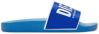 Diesel Blue Logo Slides