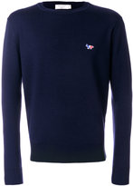 MAISON KITSUNÉ logo embroidered jumper - unisex - Virgin Wool - L