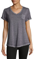 Style And Co. Burnout V-Neck Pocket T-Shirt