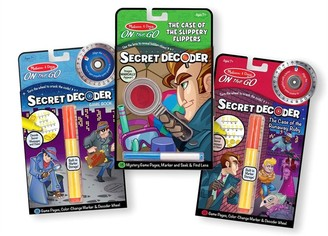 Melissa & Doug Paint-with-Water Colouring Book 3-Pack Secret Decoder Spy Bundle