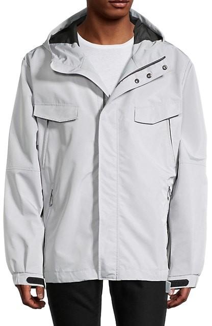 Noize Mens Jacket Blue Size Medium M Puffer Finn Full-Zipped Hooded $220 #233