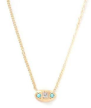 Margaret Elizabeth - Samara Necklace - Turquoise & Diamond