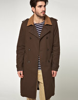 Asos Contrast Collar Trench