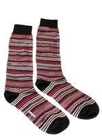 Missoni Gm00cmu5236 0002 Pink/red Knee Length Socks.