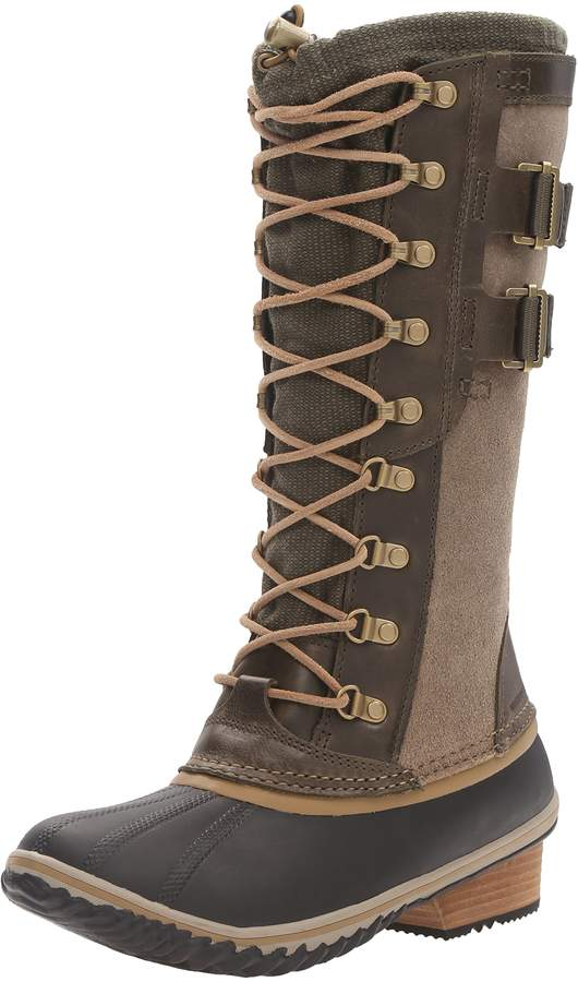 Sorel Women's Conquest Carly II Snow Boot Peat Moss Glare 5.5 B US