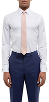 Jaeger Dobby Cotton Double Cuff Slim Fit Shirt, White
