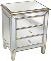 AA Importing Carly 3-Drawer Nighstand, Mirrored