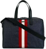 Bally contrast stripe holdall - men - Leather/Nylon - One Size
