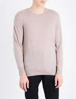 Burberry Checked-shoulders cashmere jumper