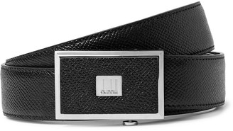 Dunhill 3cm Black Full-Grain Leather Belt