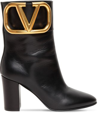 Valentino 85mm Super V Leather Ankle Boots