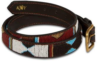 Koy Clothing Hand-Beaded Maasai Mwezi Belt Narrow