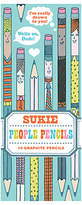 Chronicle Books Sukie People Pencils, Pack of 10