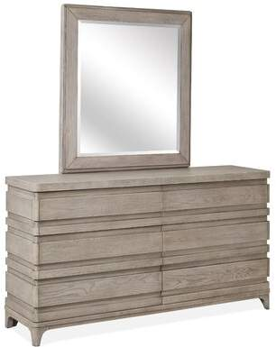 Pacifica Gracie Oaks 6 Drawer Double Dresser with Mirror Gracie Oaks