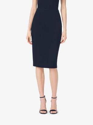 Michael Kors Stretch-Wool Gabardine Pencil Skirt
