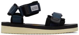 Suicoke Navy and Black CEL-V Sandals
