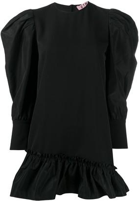 Gina Ruffled-Hem Mini Dress