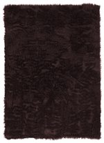 Linon Faux Sheepskin Brown Area Rug (3' x 5')