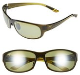 Maui Jim Women's 'Twin Falls' 63Mm Polarized Sunglasses - Gloss Black Fade/ Neutral Grey