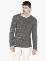 John Varvatos Abstract Fair Isle Sweater