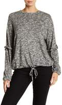 Vince Camuto Marled Knit Bubble Sleeve Shirt