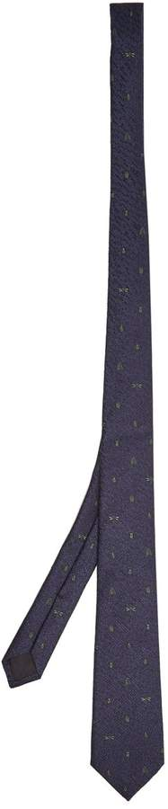 Gucci Insect-embroidered silk-blend tie