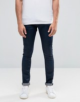 Selected Skinny Fit Stretch Jeans in IndIgo Denim