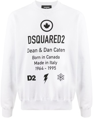 DSQUARED2 Logo Crew Neck Sweatshirt