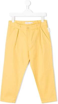 Tiny Cottons solid pleated trousers