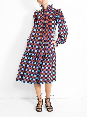 Valentino multicolor dots dress