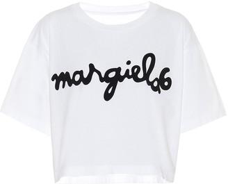 MM6 MAISON MARGIELA Logo cropped cotton T-shirt