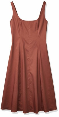 Club Monaco Women's Wide Neck Panel Dress Cinnamon 8