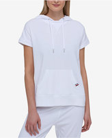 Tommy Hilfiger Cotton Short-Sleeve Eyelet Hoodie, Created for Macy's