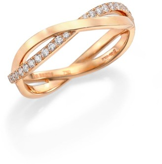 De Beers Infinity Diamond & 18K Rose Gold Half Band Ring
