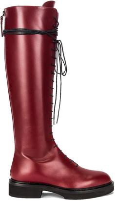 KHAITE York High Boots in Bordeaux | FWRD