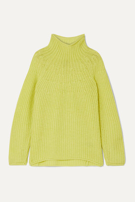 Rag & Bone Joseph Ribbed-knit Turtleneck Sweater - Chartreuse