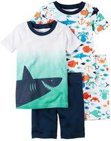 Carter's Toddler Boy 4-pc. Tee & Shorts Pajama Set