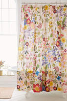 Urban Outfitters Pressed Flower Shower Curtain