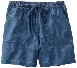 L.L. Bean Women's Original Sunwashed Shorts, Denim