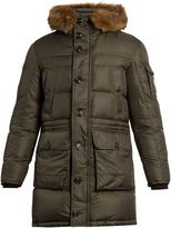 Moncler Affton fur-trimmed quilted-down coat