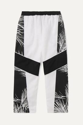 Paradised Kids - Jaffer Printed Cotton-canvas Track Pants - White